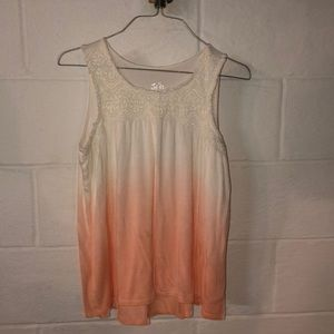 Ombre lacy justice tank top